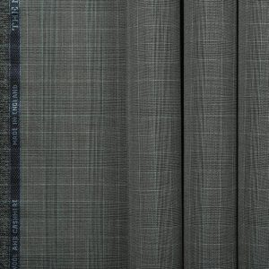 10007 Medium Grey Guarded Glen Check with White Overcheck