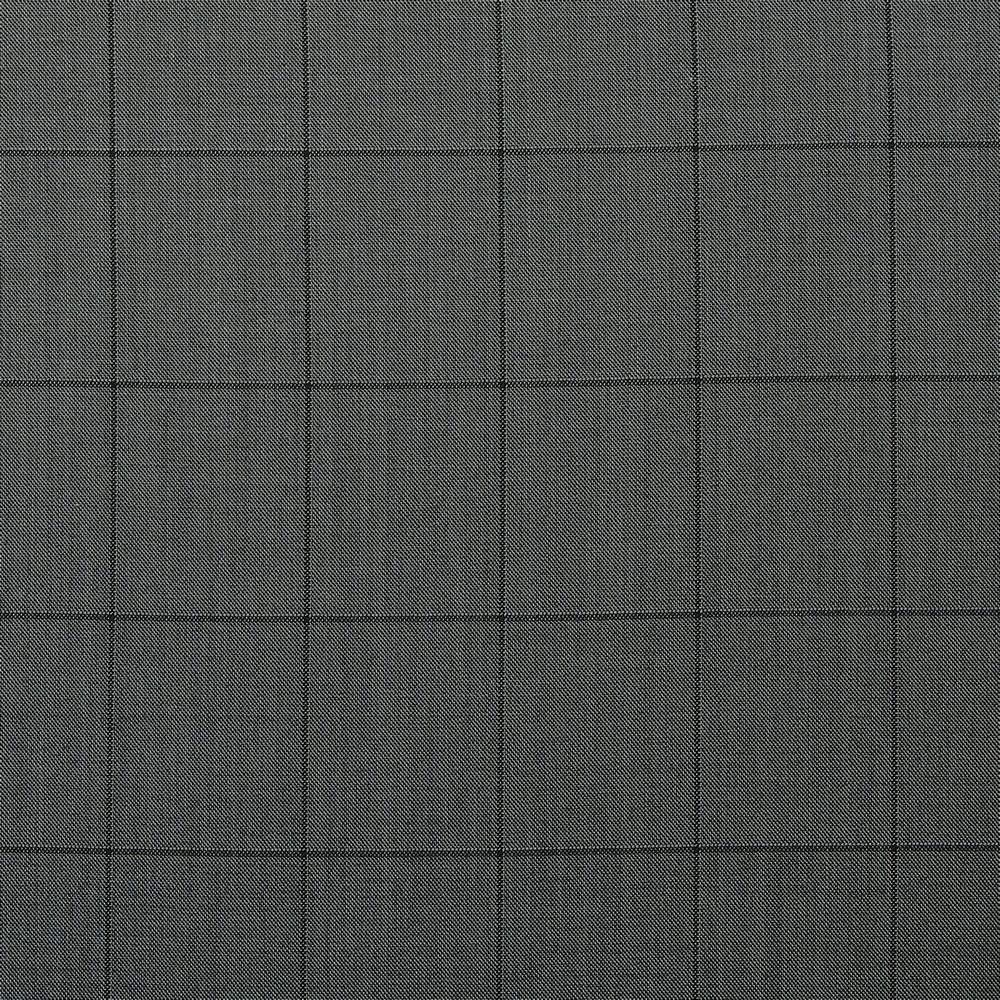 10009 Medium Grey Sharkskin with Black Windowpane Check