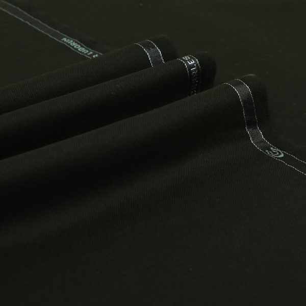1000 Black Plain Twill Cashmere