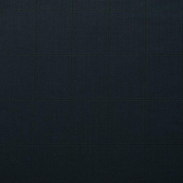 10010 Navy Blue Sharkskin with Dark Navy Blue Windowpane Check