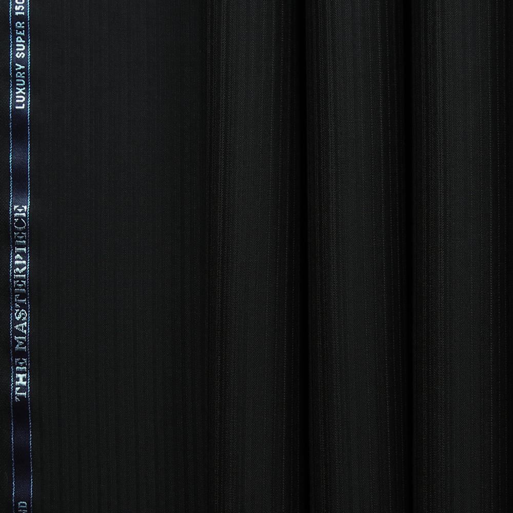 10019 Black Narrow Shadow Stripe