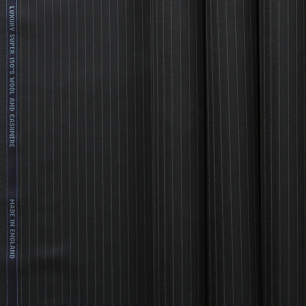 10026 Black Herringbone Stripe