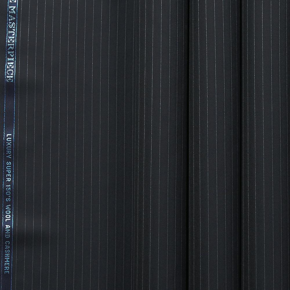 10027 Navy Blue Herringbone Stripe