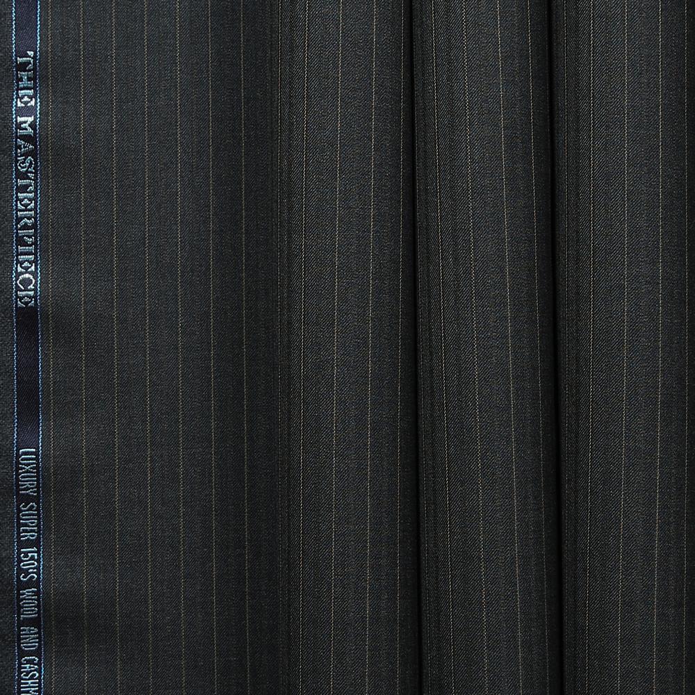 10028 Dark Grey with Tan Fancy Stripe