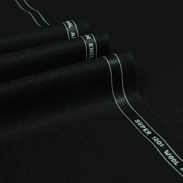 1019 Black Fine Herringbone