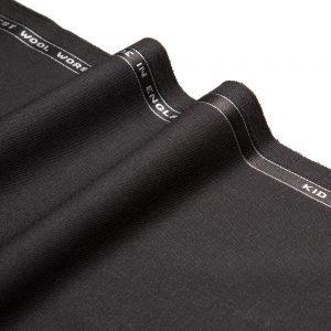 1043 Black Plain Mohair/Wool Barathea