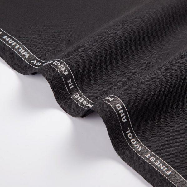 1044 Black Plain Wool/Mohair Barathea