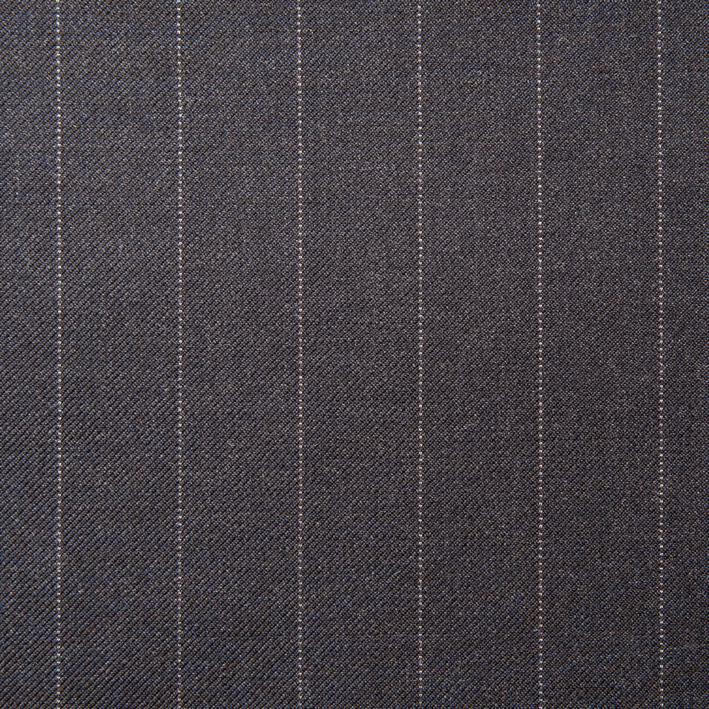 11010 Charcoal Grey Medium Pin Stripe