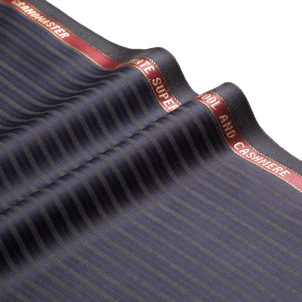 11027 Navy Blue Sateen Stripe