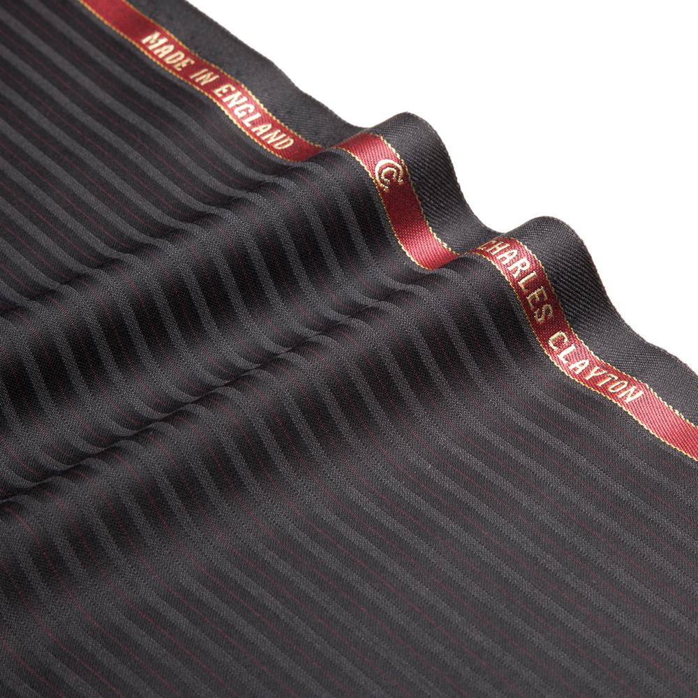 11028 Black Sateen Stripe