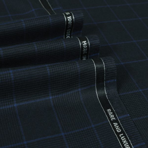 12060 Navy Blue Guarded Glen Check