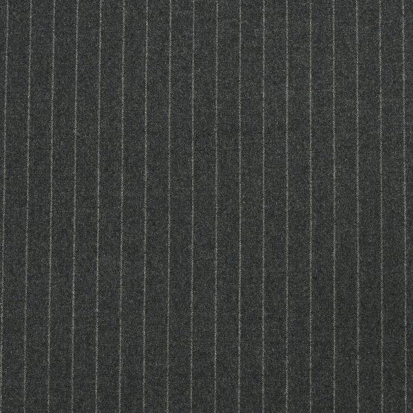 14011 Dark Grey Chalk Stripe Flannel