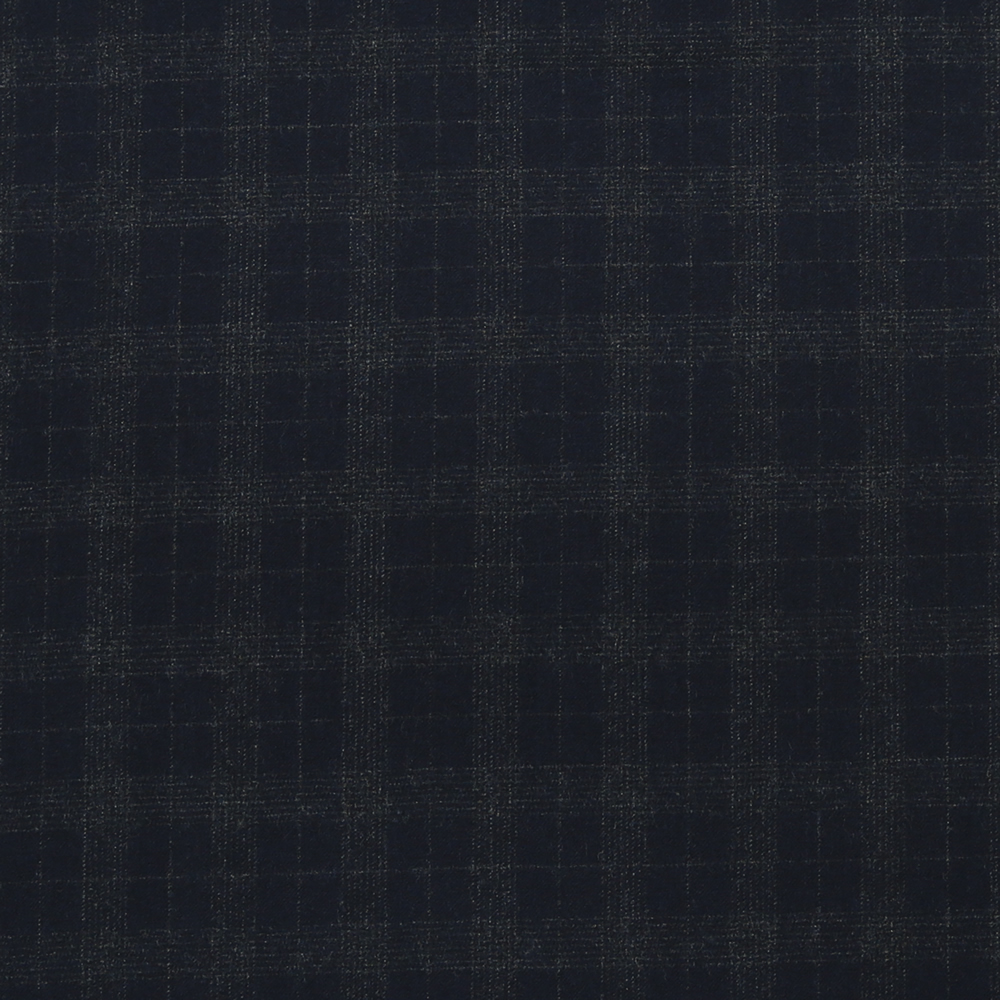 14023 Navy Blue Tattersall Check Flannel