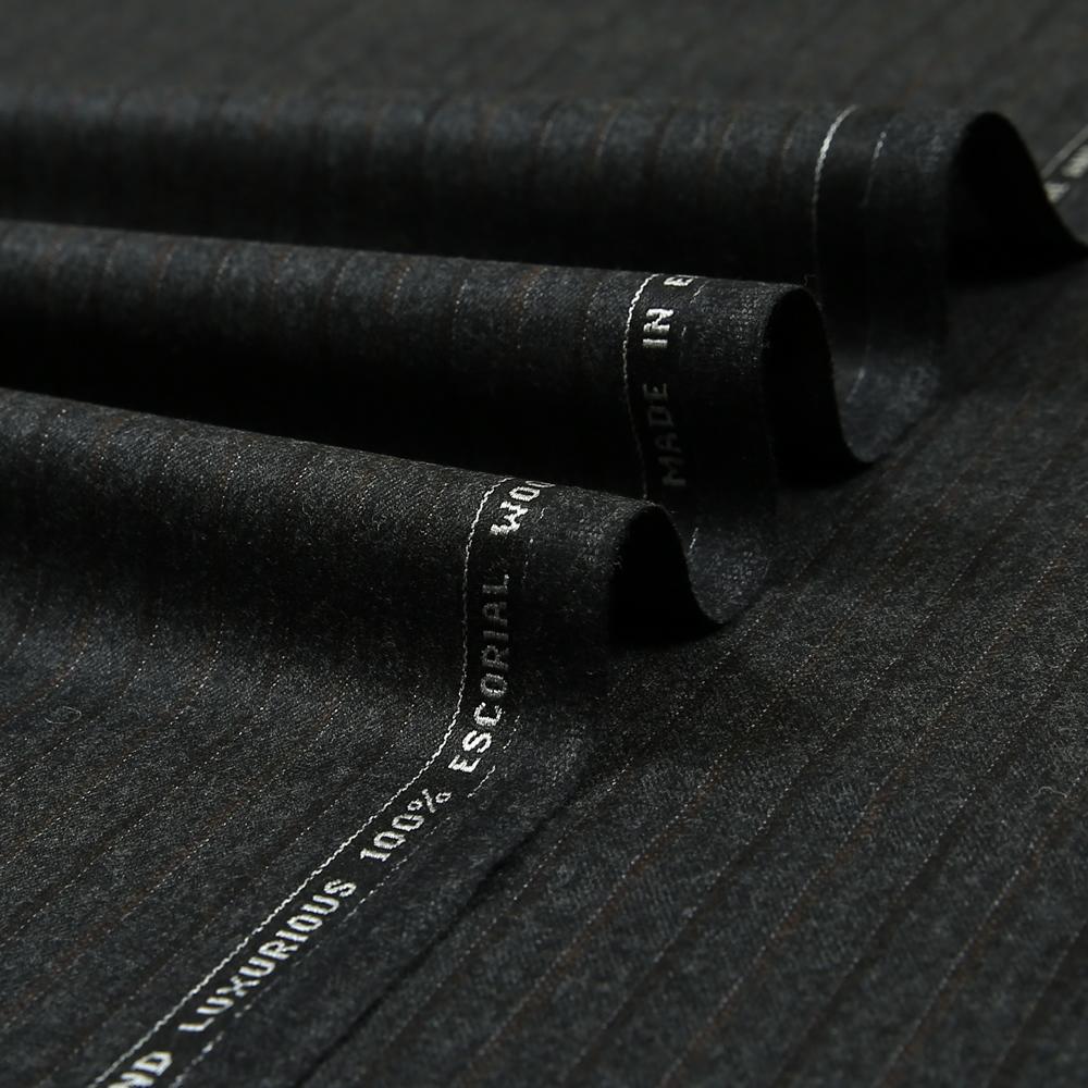 14051 Charcoal Grey Fancy Stripe Flannel