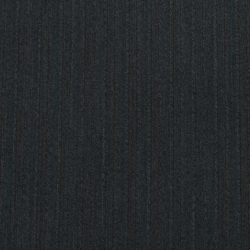 15008 Dark Grey Herringbone with Fancy Coloured Stripe