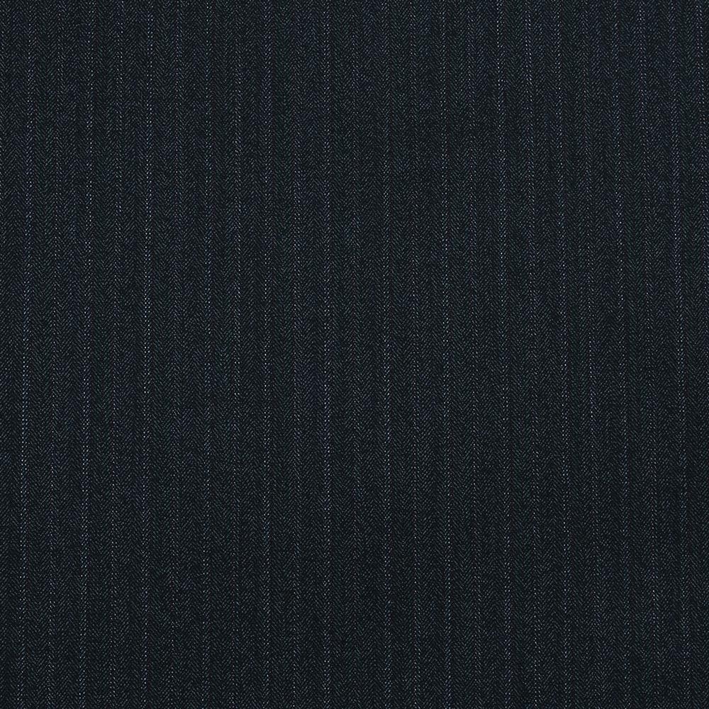 15010 Dark Grey and Blue Herringbone with Fancy Coloured Stripe