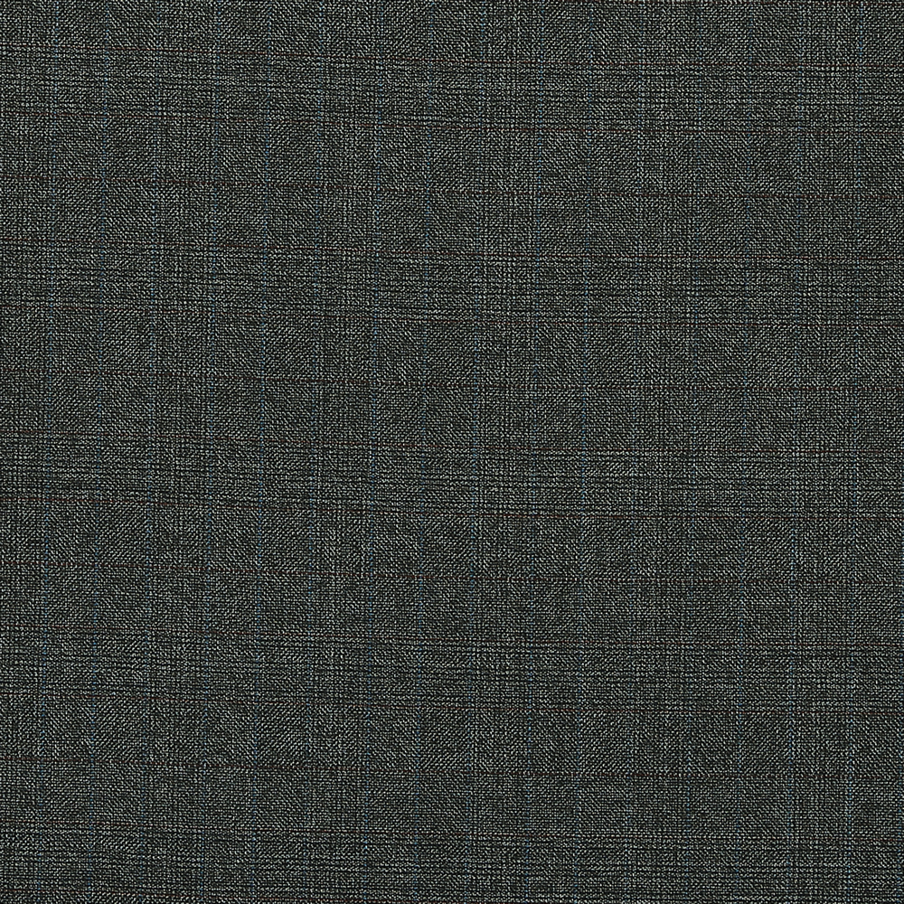 15021 Grey Brown Hopsack Glen Check with Blue/Orange Overcheck