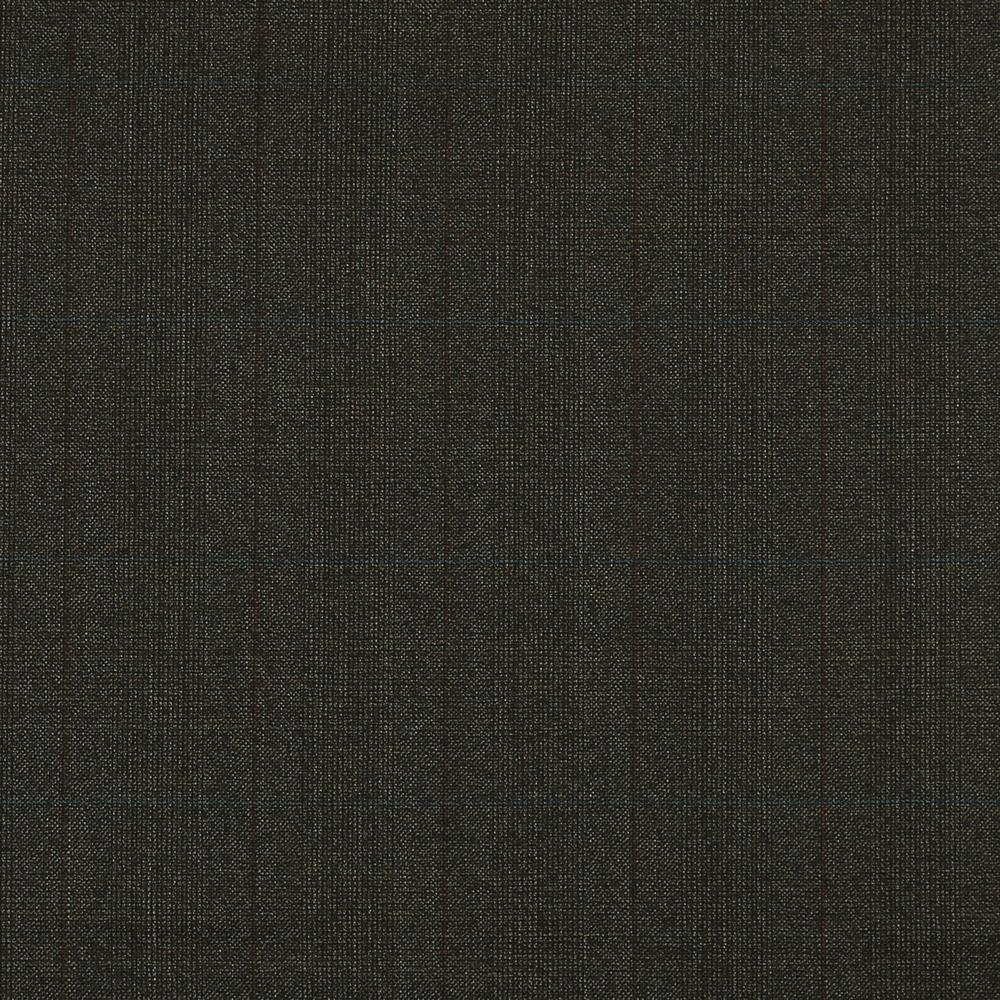 15025 Brown Hopsack Glen Check with Blue/Orange Overcheck