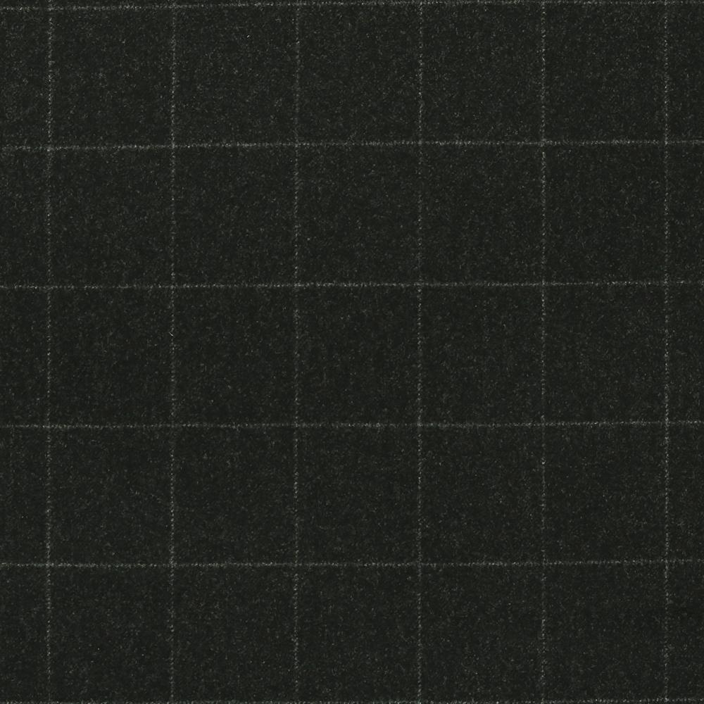 17014 Charcoal Grey Melange Windowpane Check
