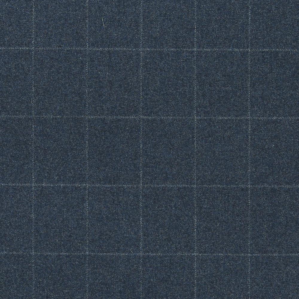 17015 Blue Melange Windowpane Check