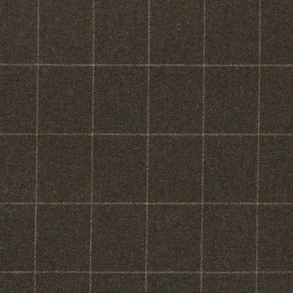 17016 Brown Melange Windowpane Check
