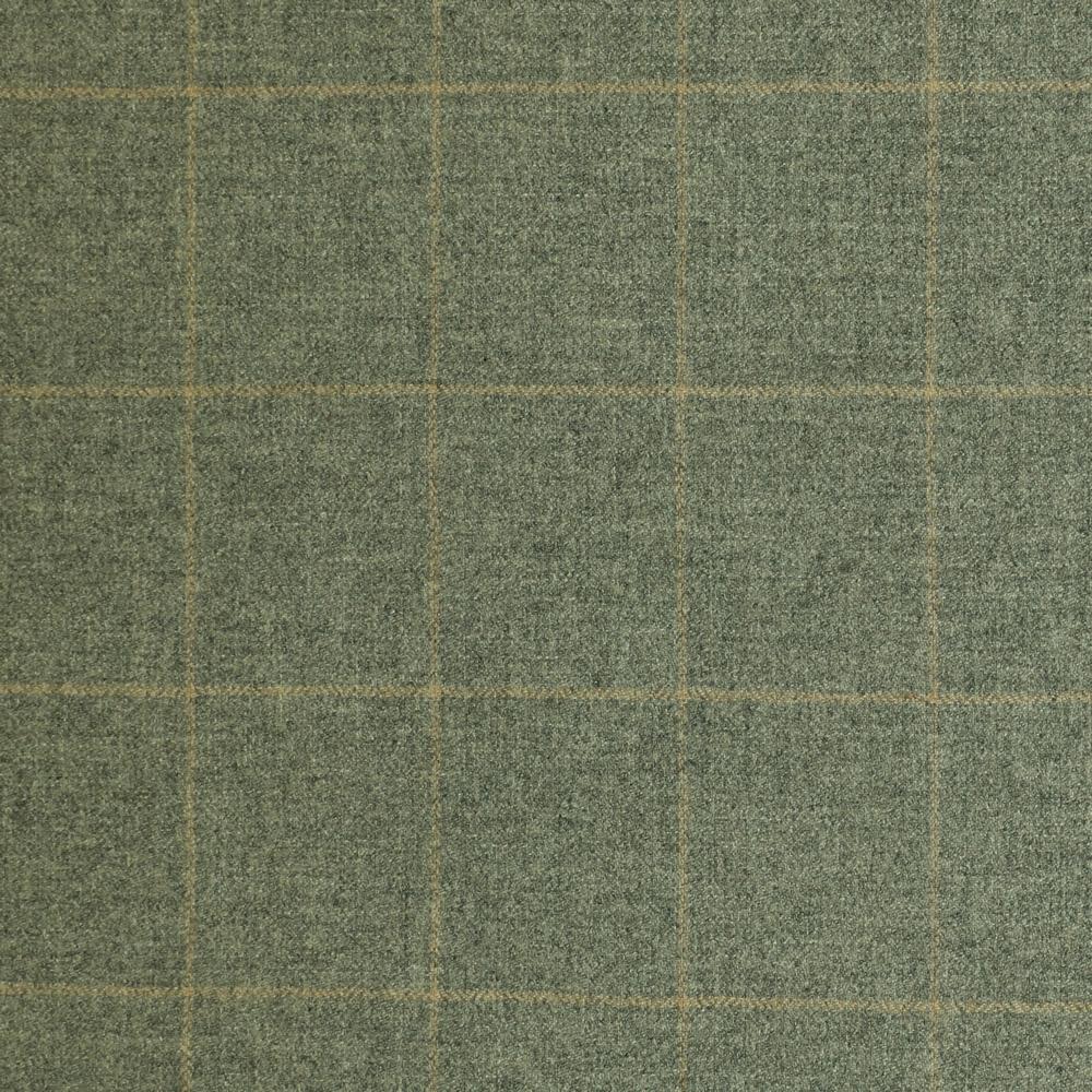 19036 Light Grey Herringbone with Tan Windowpane Check