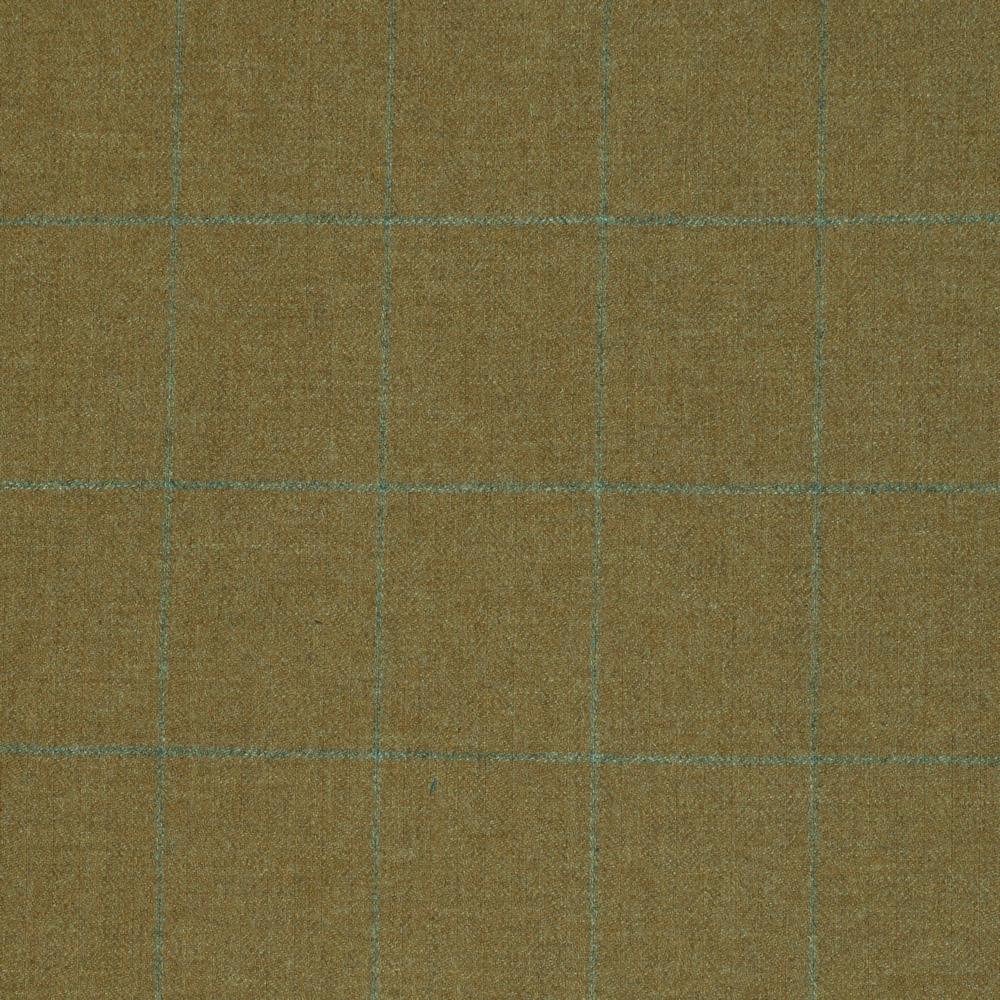 19037 Light Brown Herringbone with Light Grey Windowpane Check