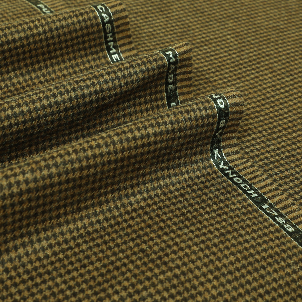 19038 Brown and Tan Houndstooth