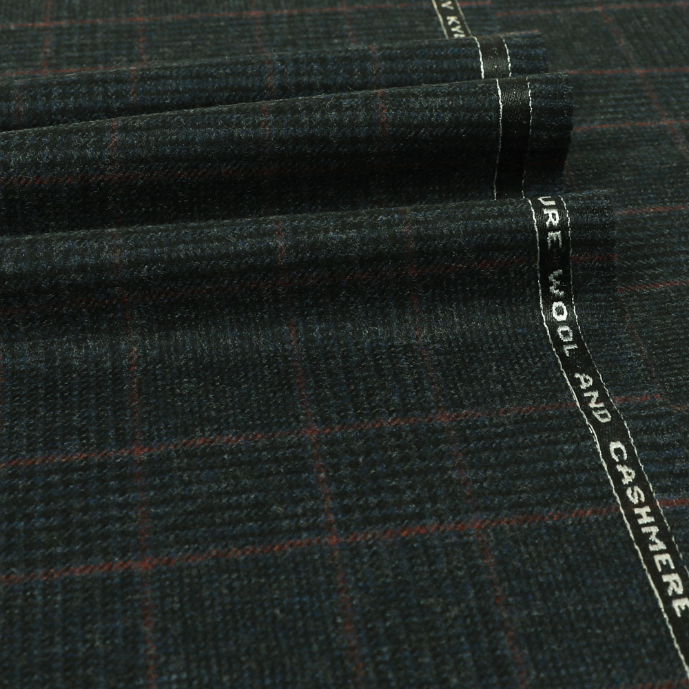 19045 Blue and Black Glen with Guarded Red Check