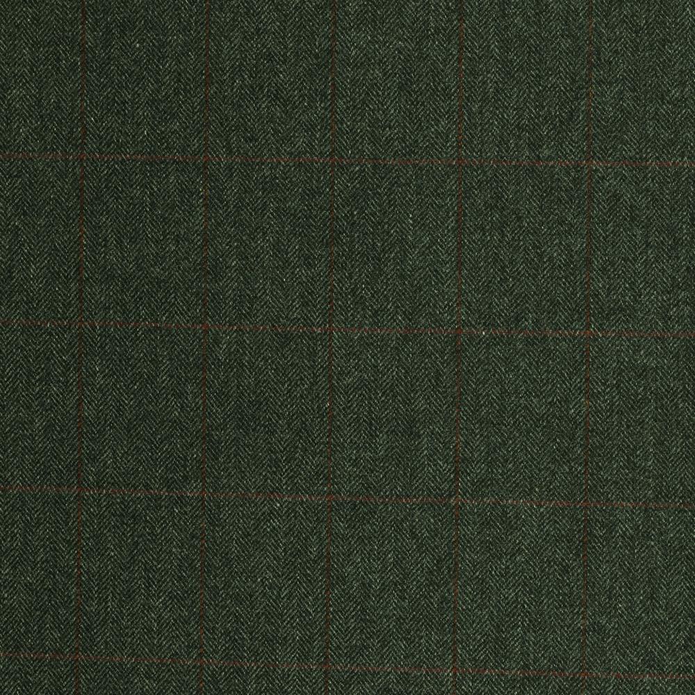 19047 Dark Grey Herringbone with Red/Tan Windowpane Check