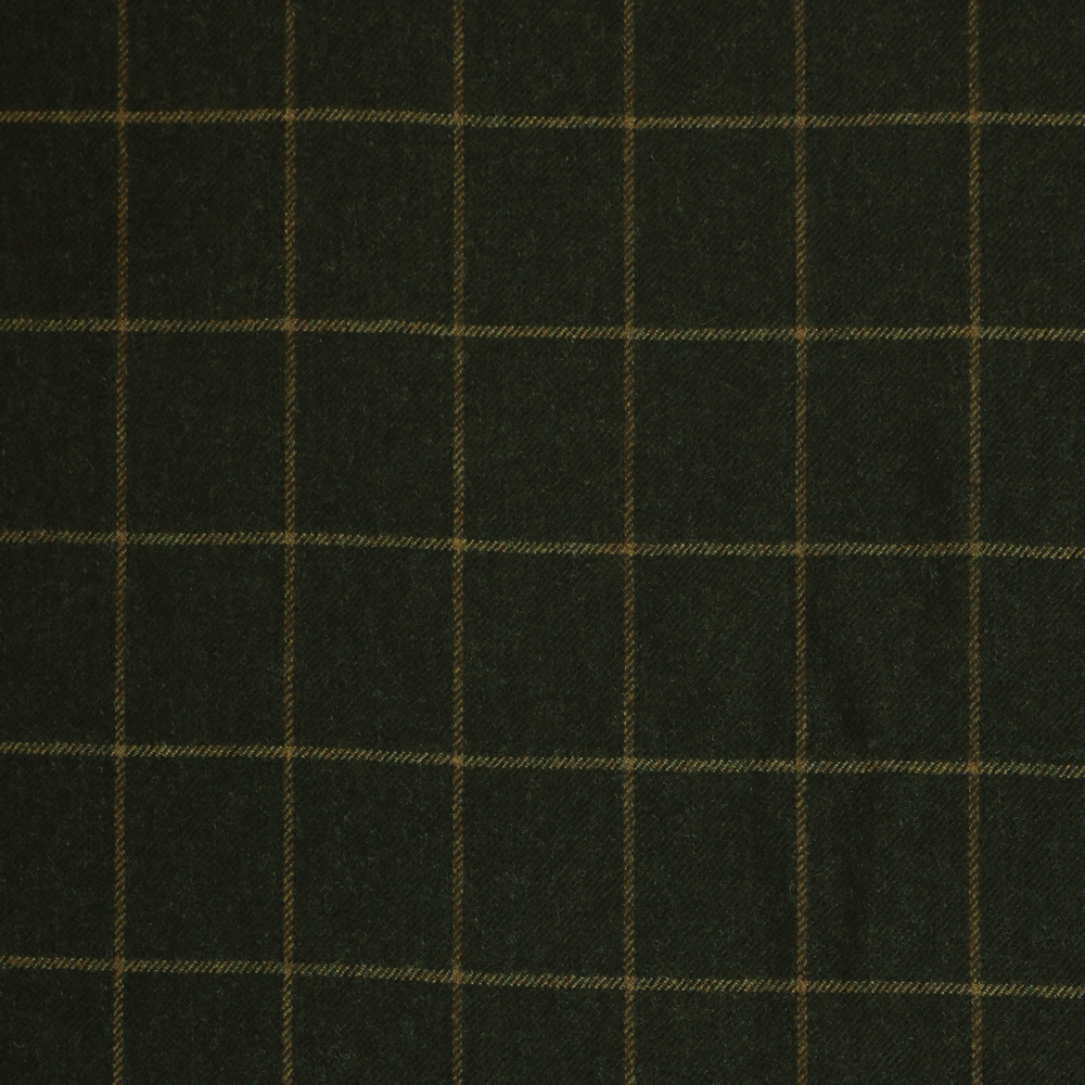 19053 Dark Brown Melange with Tan Windowpane Check