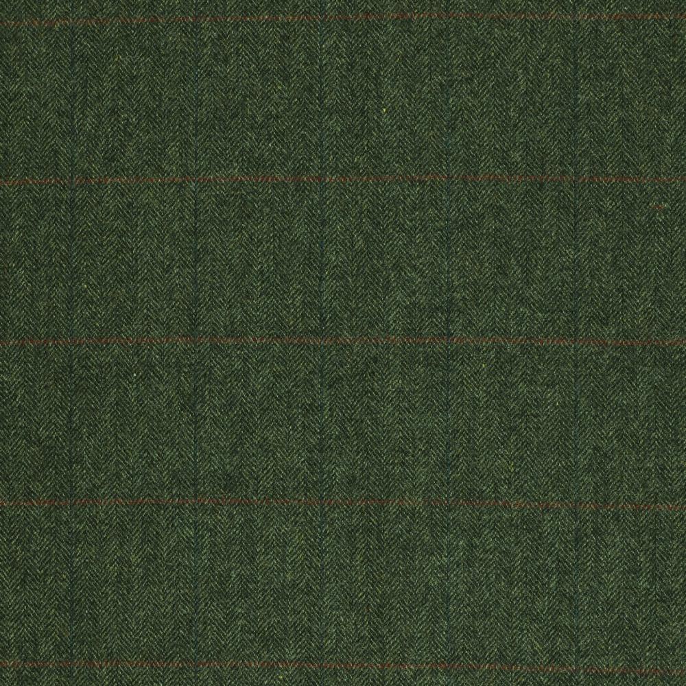 19055 Dark Green Herringbone with Red/Blue Windowpane Check