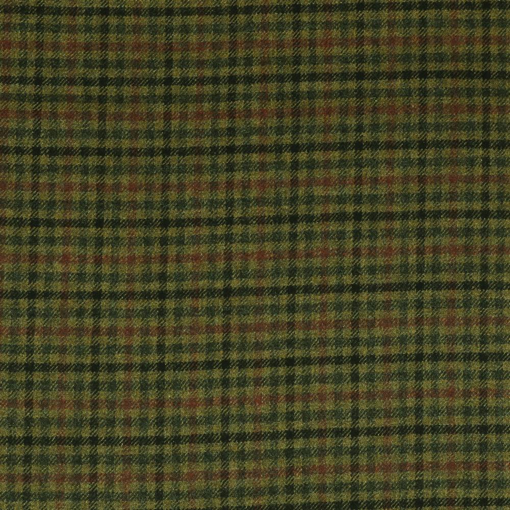 19056 Green and Burgundy Shepherd Check