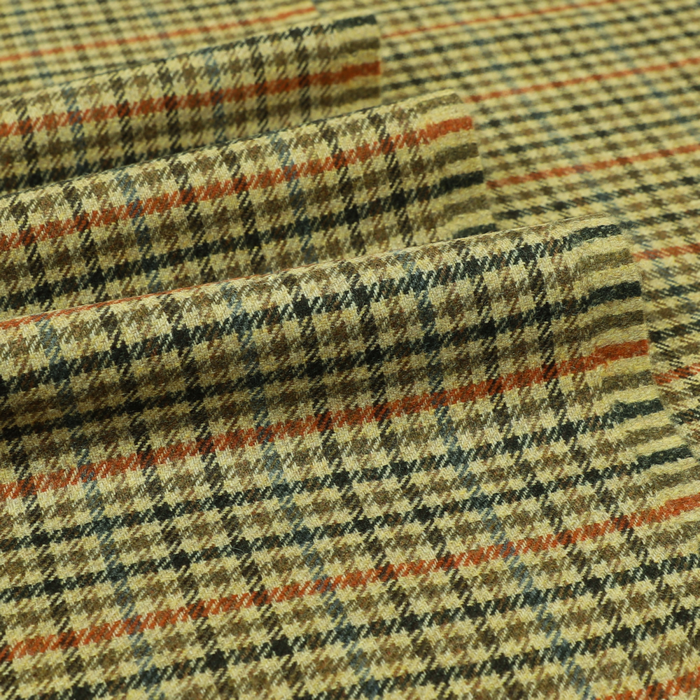 19058 Fawn Brown and Orange/Blue Shepherd Check
