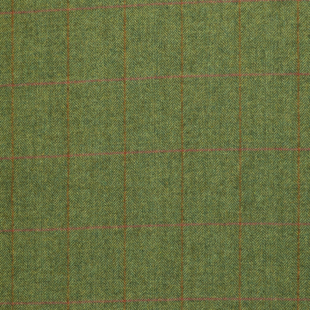 19062 Sage Green Herringbone with Pink/Tan Windowpane Check