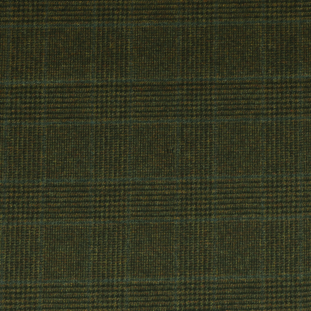 19063 Olive Brown Glen with Guarded Blue Check