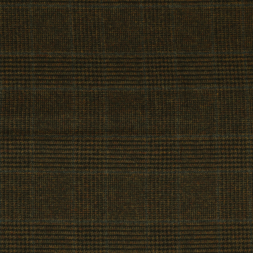 19064 Dark Brown Glen with Guarded Blue Check