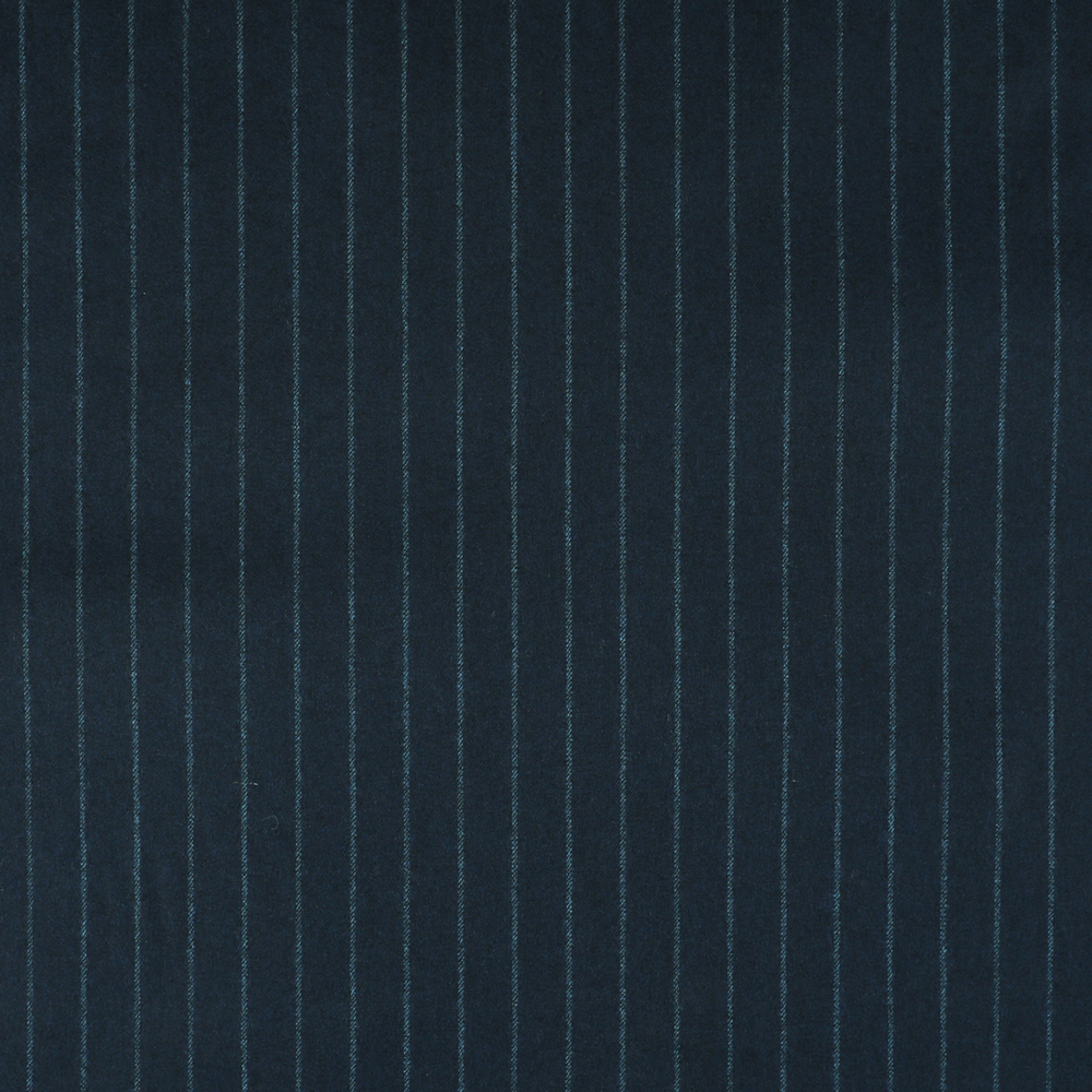 22000 Navy Blue Wide Chalk Stripe Flannel