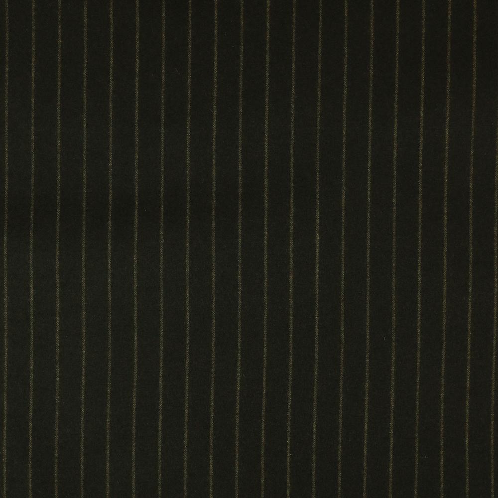 22002 Chocolate Brown Wide Chalk Stripe Flannel