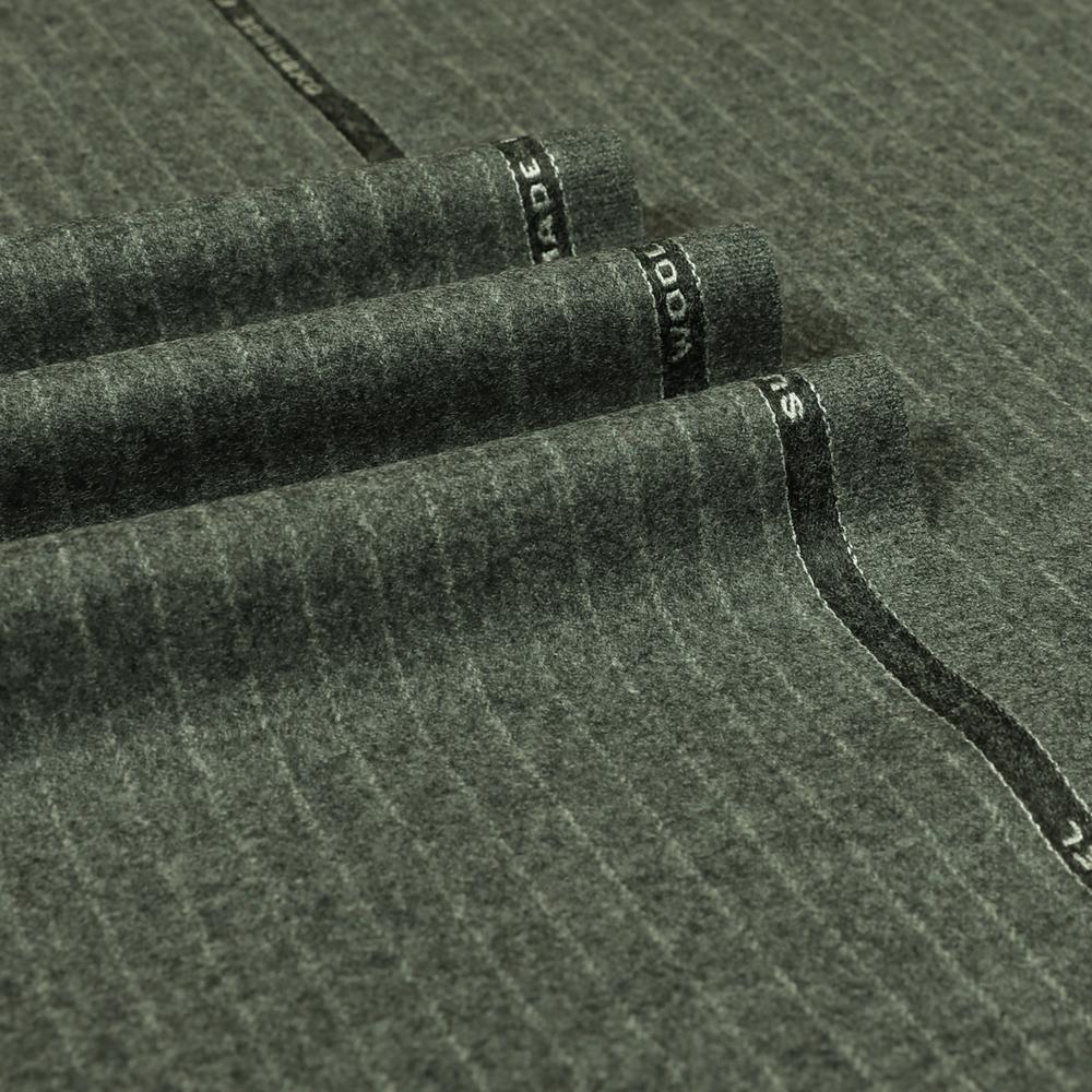 22005 Medium Grey Narrow Chalk Stripe Flannel