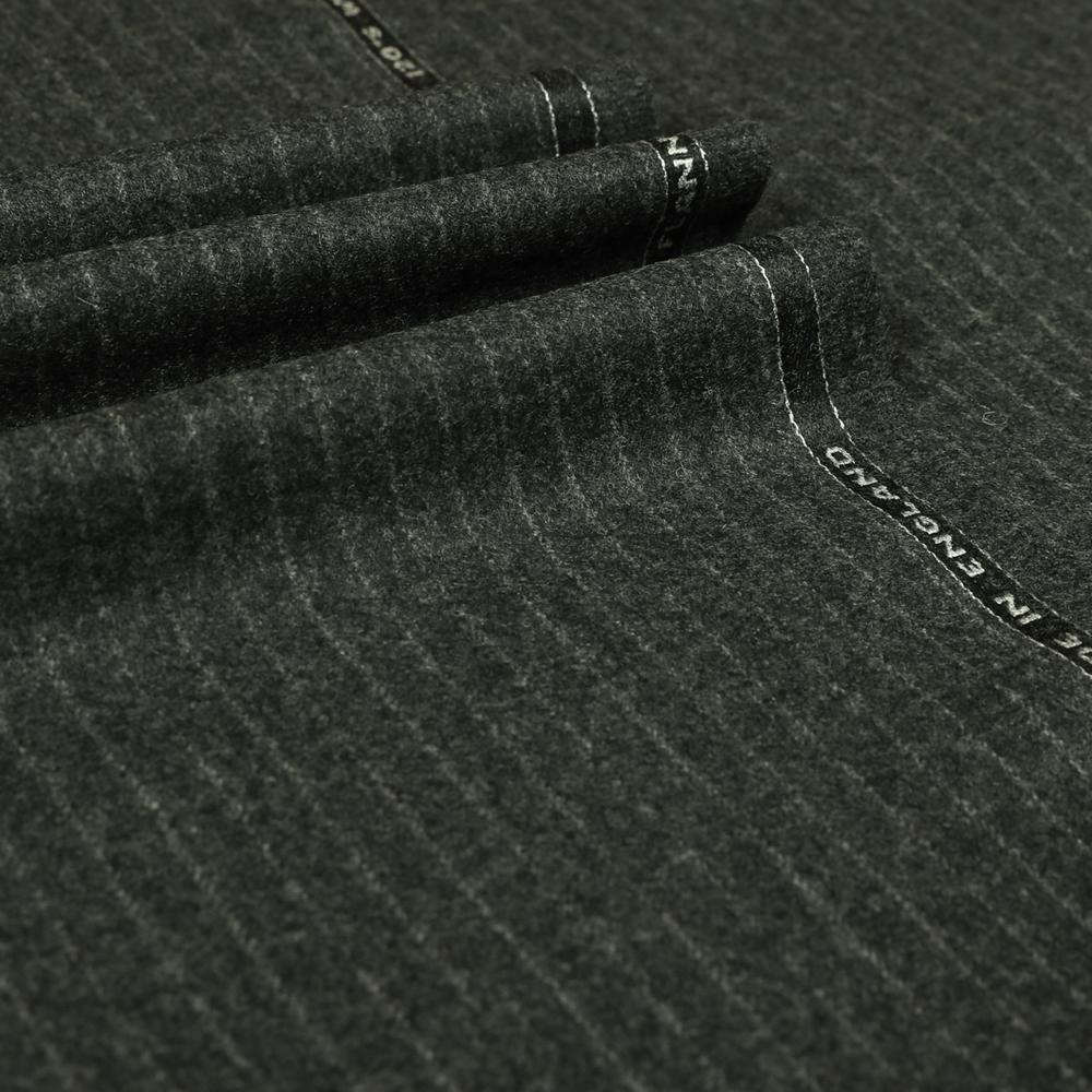 22006 Dark Grey Narrow Chalk Stripe Flannel