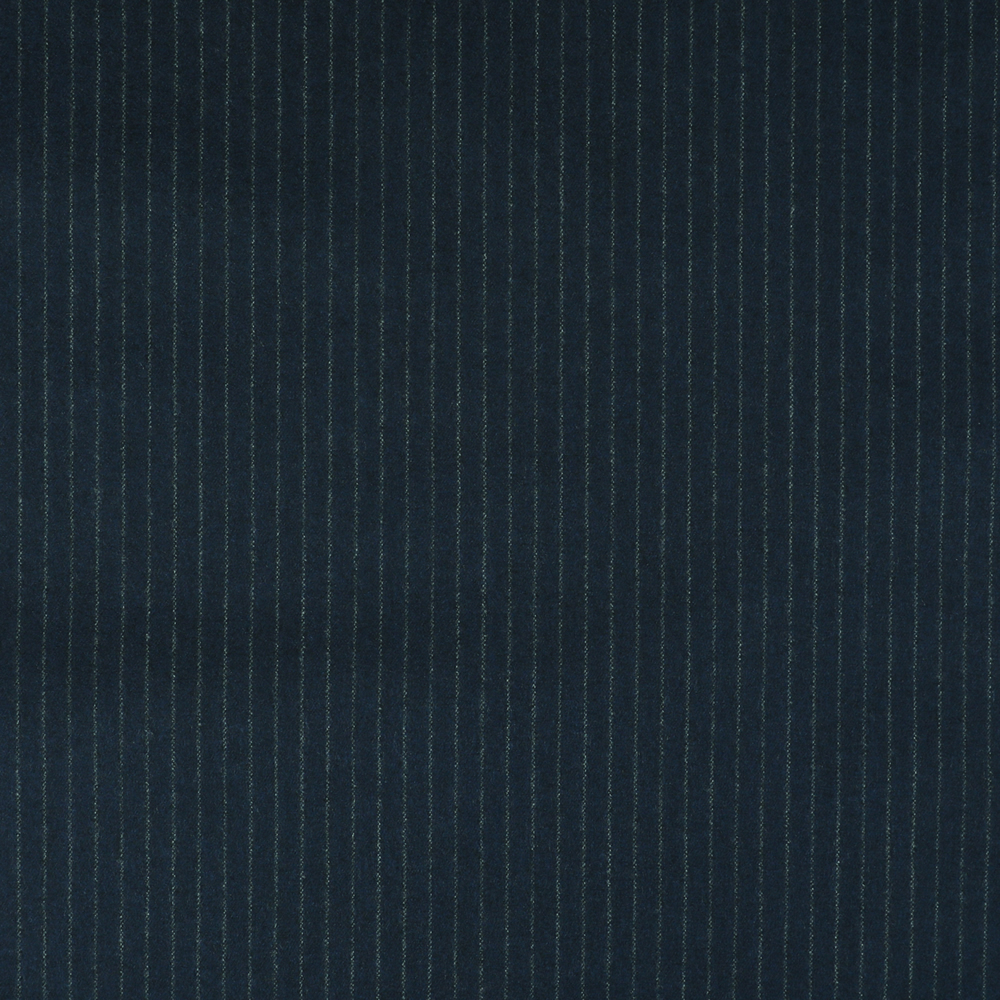 22009 Navy Blue Narrow Chalk Stripe Flannel
