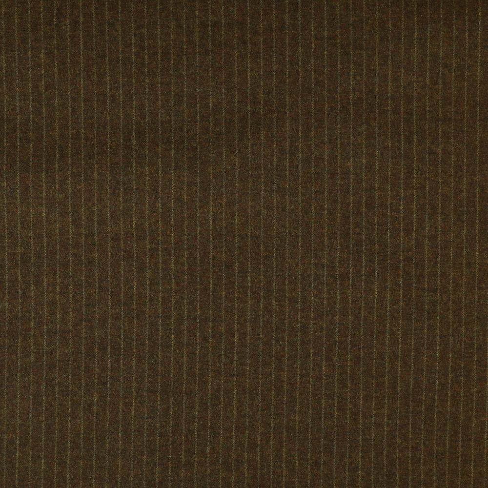 22011 Autumn Brown Narrow Chalk Stripe Flannel