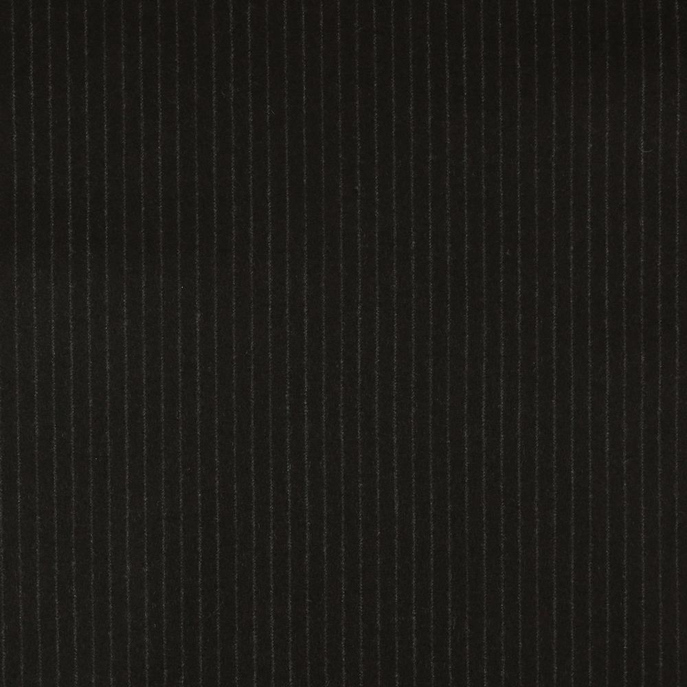 22013 Chocolate Brown Narrow Chalk Stripe Flannel