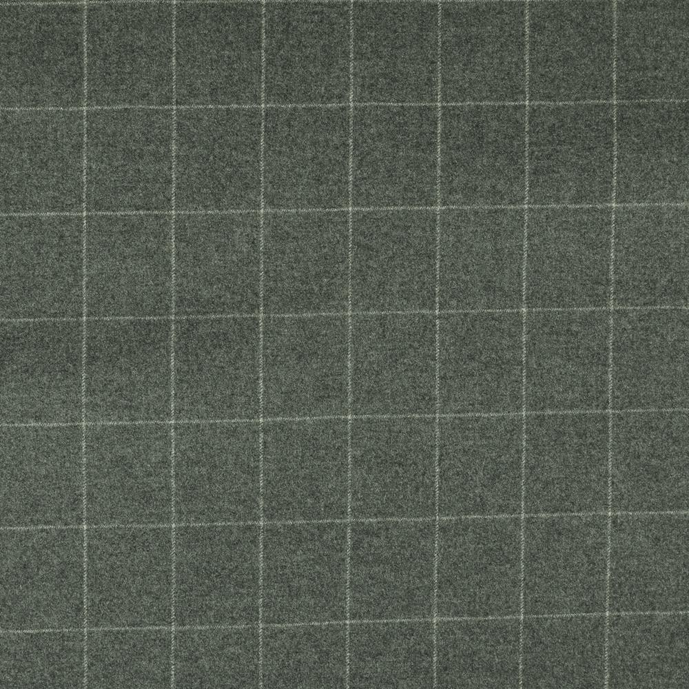 22015 Light Grey Windowpane Check Flannel