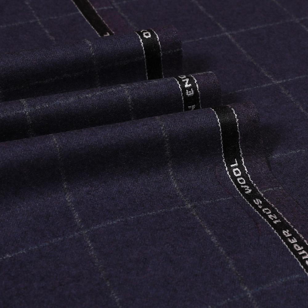 22018 Grape Purple Windowpane Check Flannel