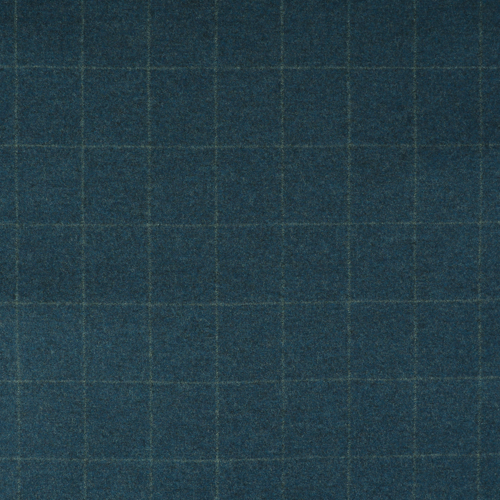 22019 Medium Blue Windowpane Check Flannel