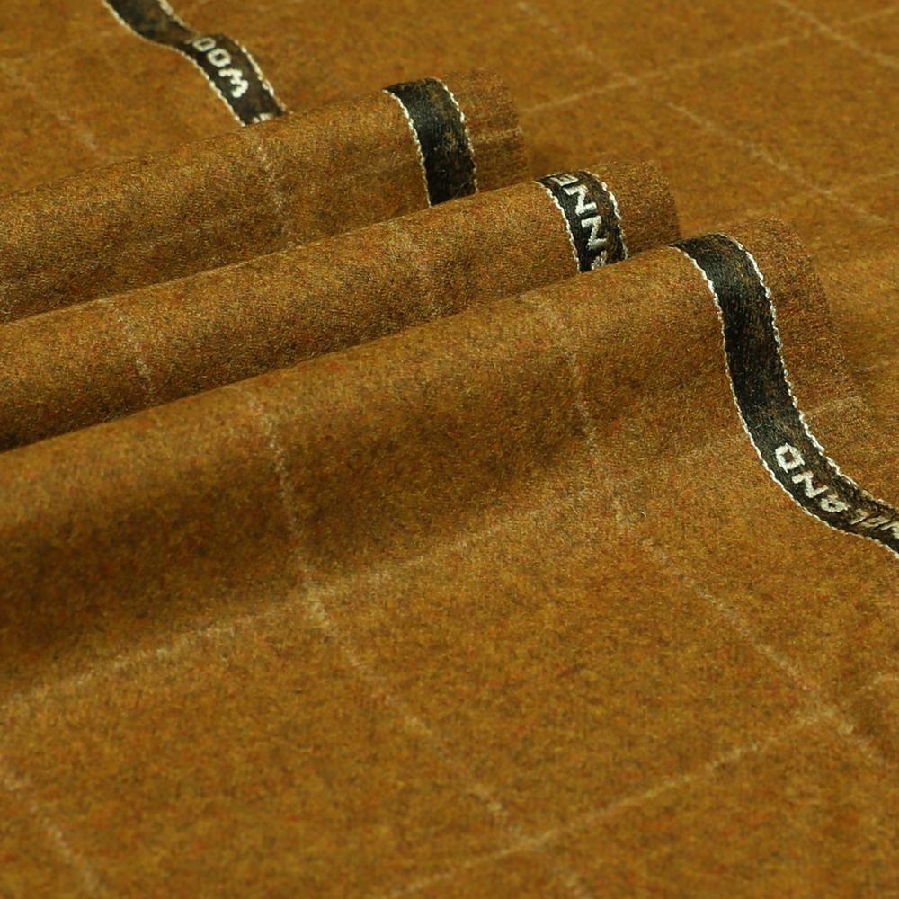 22022 Golden Camel Brown Windowpane Check Flannel