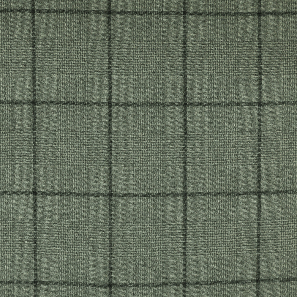 22026 Light Grey Glen with Tonal Windowpane Check Flannel