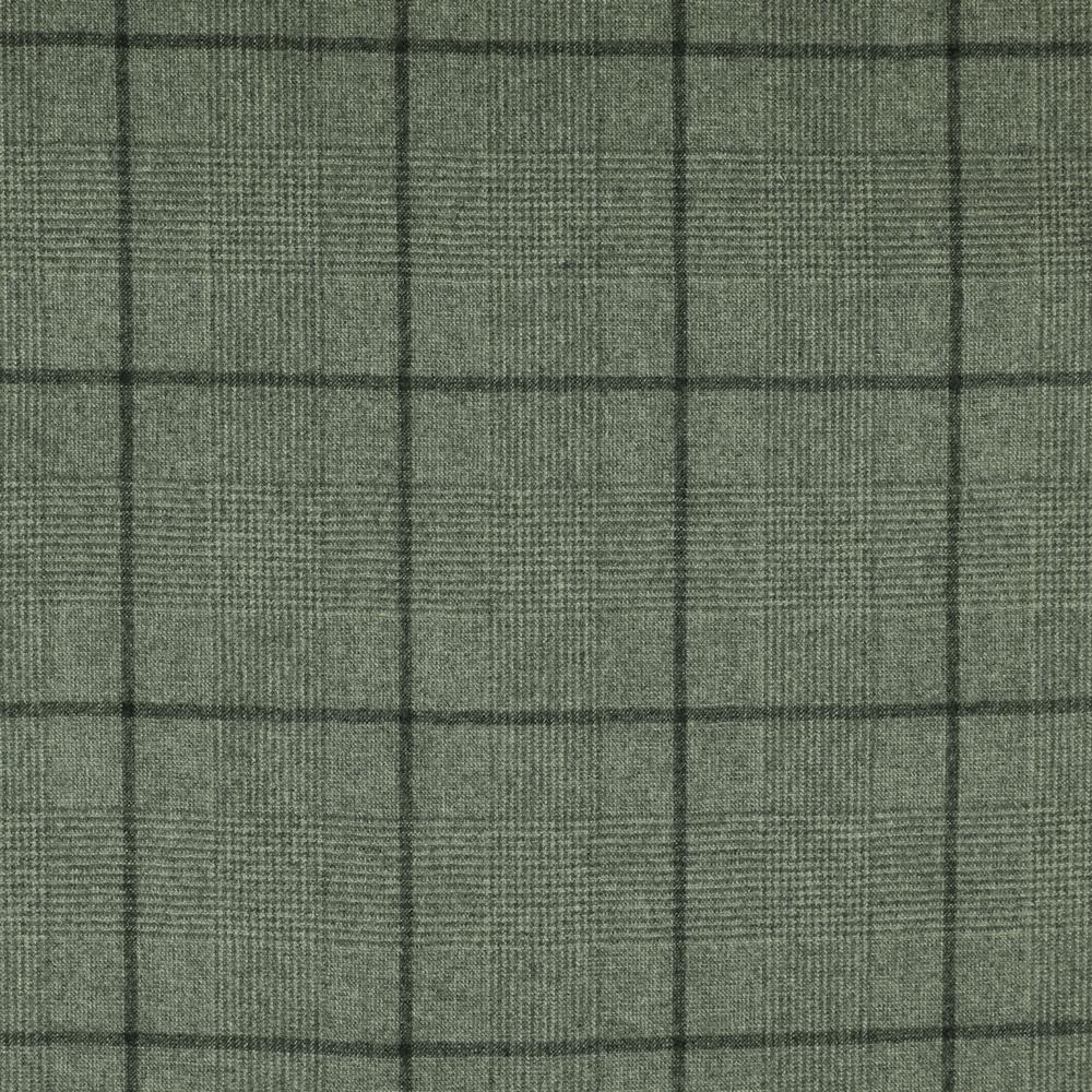 22026 Light Grey Glen with Tonal Windowpane Check Flannel